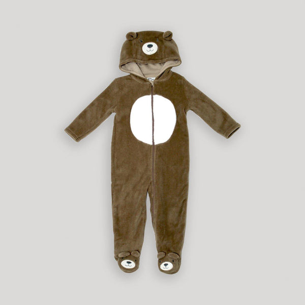 Bear Plush Hooded Onesie - Snugabye Canada