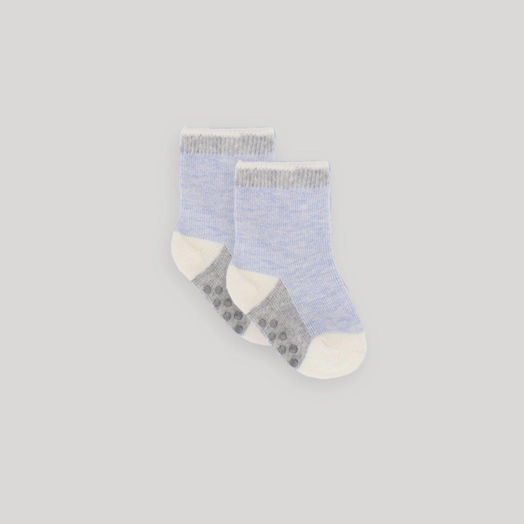 4 Pack Crew Socks in Blue - Snugabye Canada
