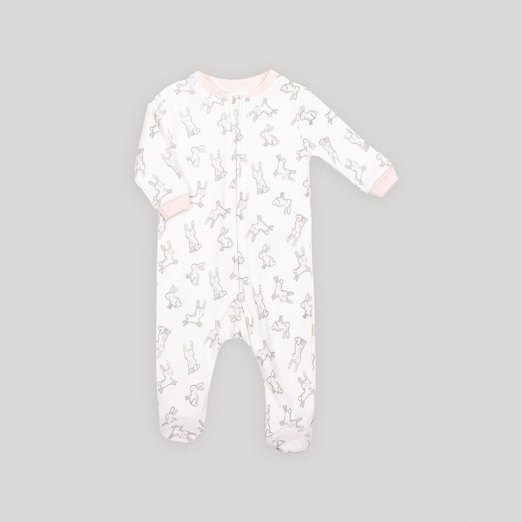 Bunny Zip Front Footed Sleeper - Snugabye Canada