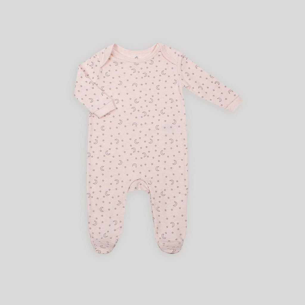 Pink Clean Front Sleeper with Snaps - Snugabye Canada