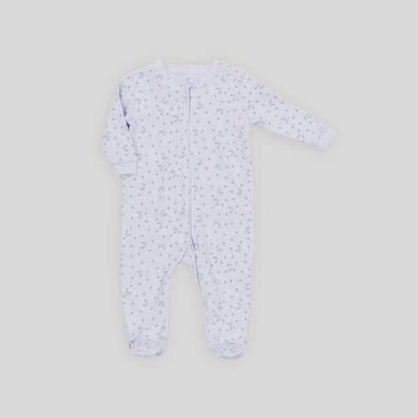 Blue Stars Zip Front Footed Sleeper - Snugabye Canada