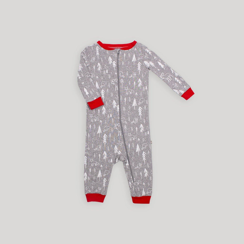 Forest Printed Footless Sleeper - Snugabye Canada