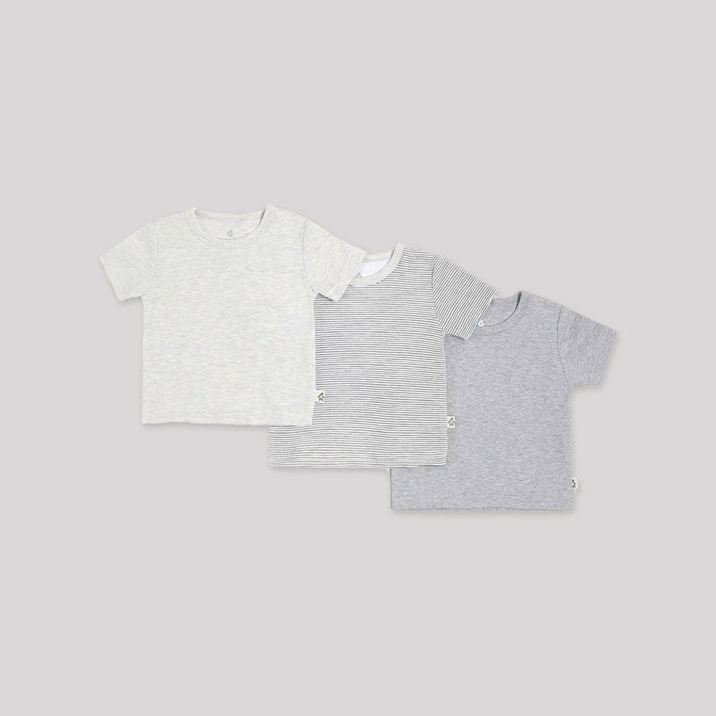 Grey Short Sleeve T-Shirts 3 Pack - Snugabye Canada