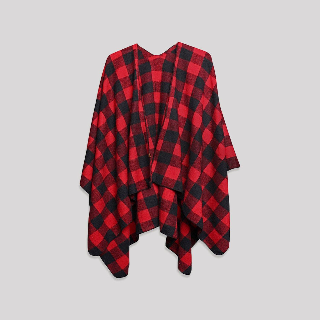 Adult Buffalo Plaid Poncho - Snugabye Canada