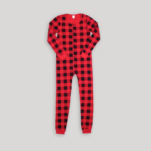 Buffalo Plaid Adult Onesie - Snugabye Canada