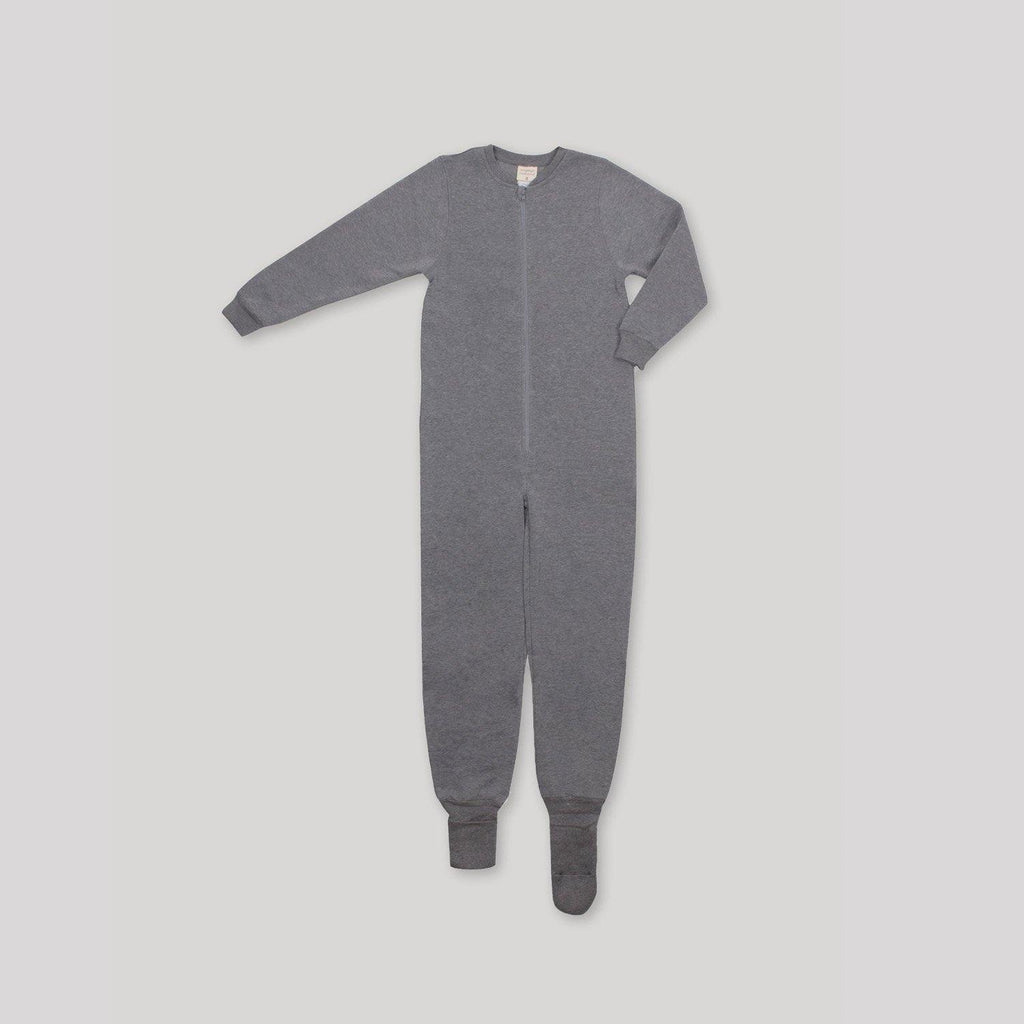 Adaptive Front Zip Grey Convert-a-Foot Sleeper - Snugabye Canada