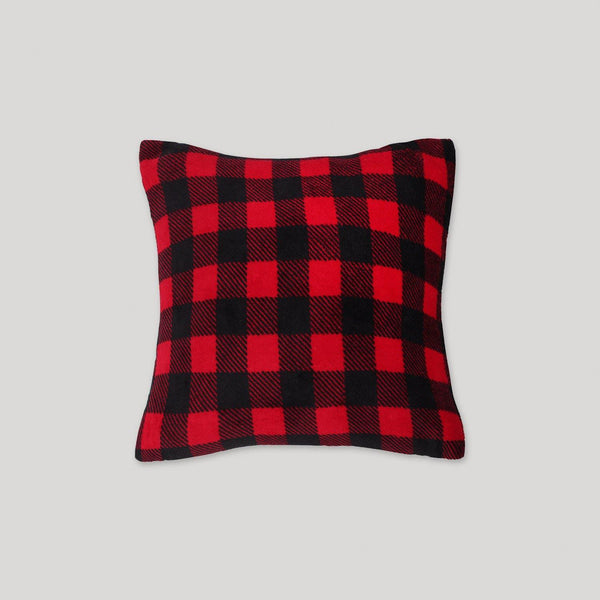 Buffalo Plaid Sherpa Pillow - Snugabye Canada