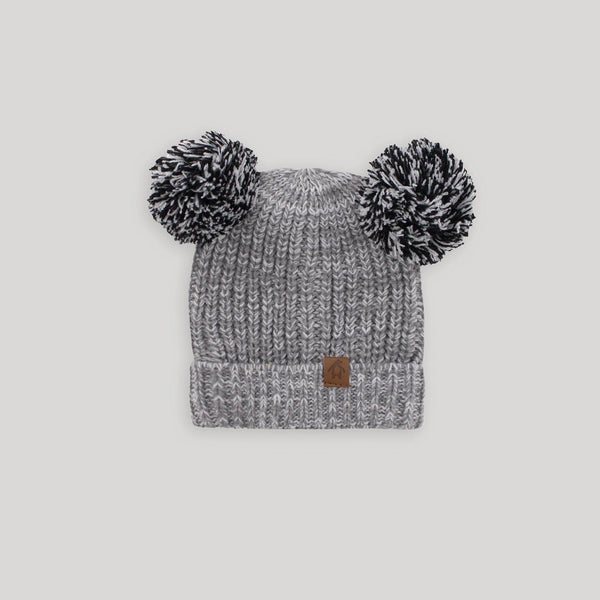 Baby Rib Double Pom Pom Hat - SOLD OUT - Snugabye Canada