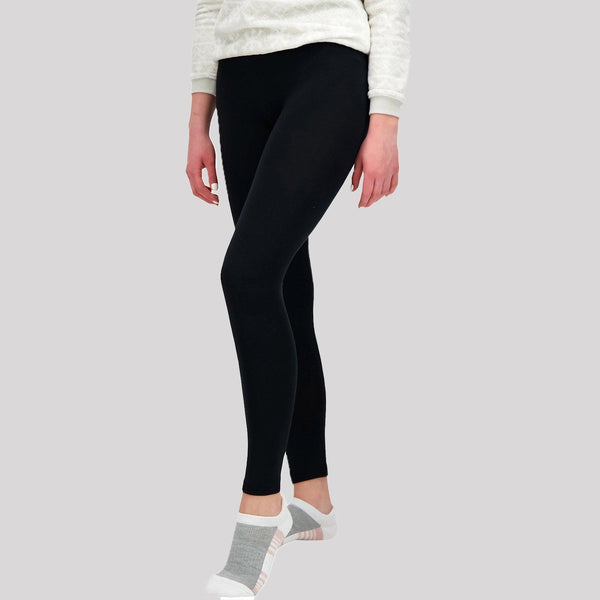 Ladies Black Basic Leggings - Snugabye Canada