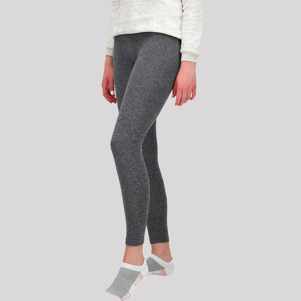 Ladies Grey Basic Leggings - Snugabye Canada