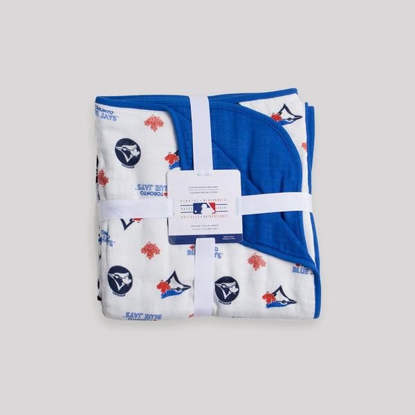 Blue Jays Reversible Play Blanket - Snugabye Canada