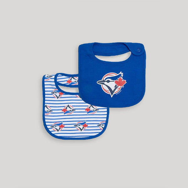 Blue Jays 2 Pack Dribble Bib - Snugabye Canada