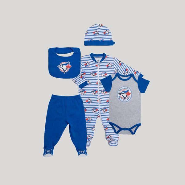 Blue Jays Blue 5 Piece Gift Bundle - Snugabye Canada