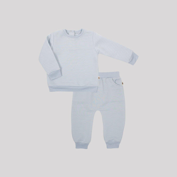 Blue Quilted 2 Piece Set - Snugabye Canada