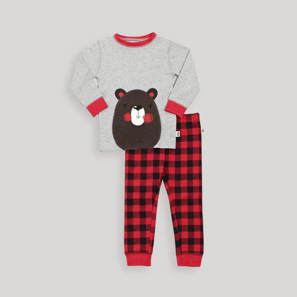 Buffalo Plaid Convertible Pajama Set - Snugabye Canada