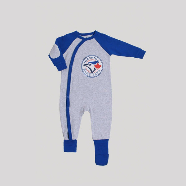 Blue Jays Grey Convert-A-Foot Sleeper - Snugabye Canada