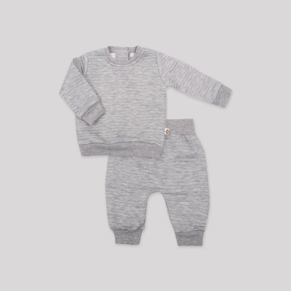 Light Grey Quilted 2 Piece Set - Snugabye Canada