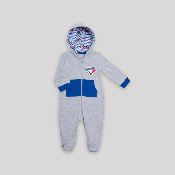 Blue Jays Hooded Cotton Sleeper - Snugabye Canada