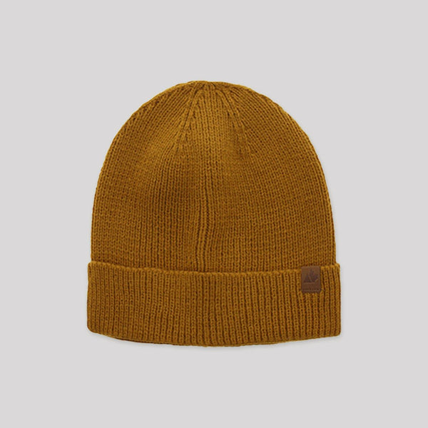 Adult Knit Beanie in Mustard - Snugabye Canada
