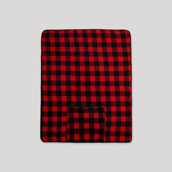 Buffalo Plaid Packable Sherpa Throw - Snugabye Canada