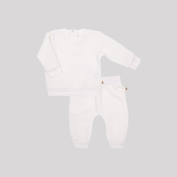 White Quilted 2 Piece Set - Snugabye Canada