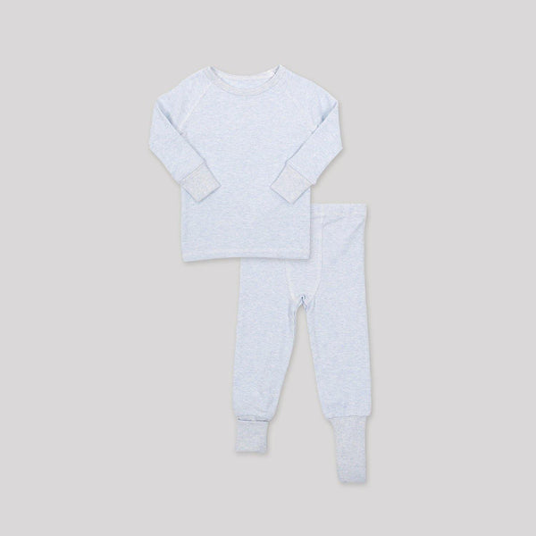 Blue Ribbed Convert-A-Foot Sleeper Set - Snugabye Canada