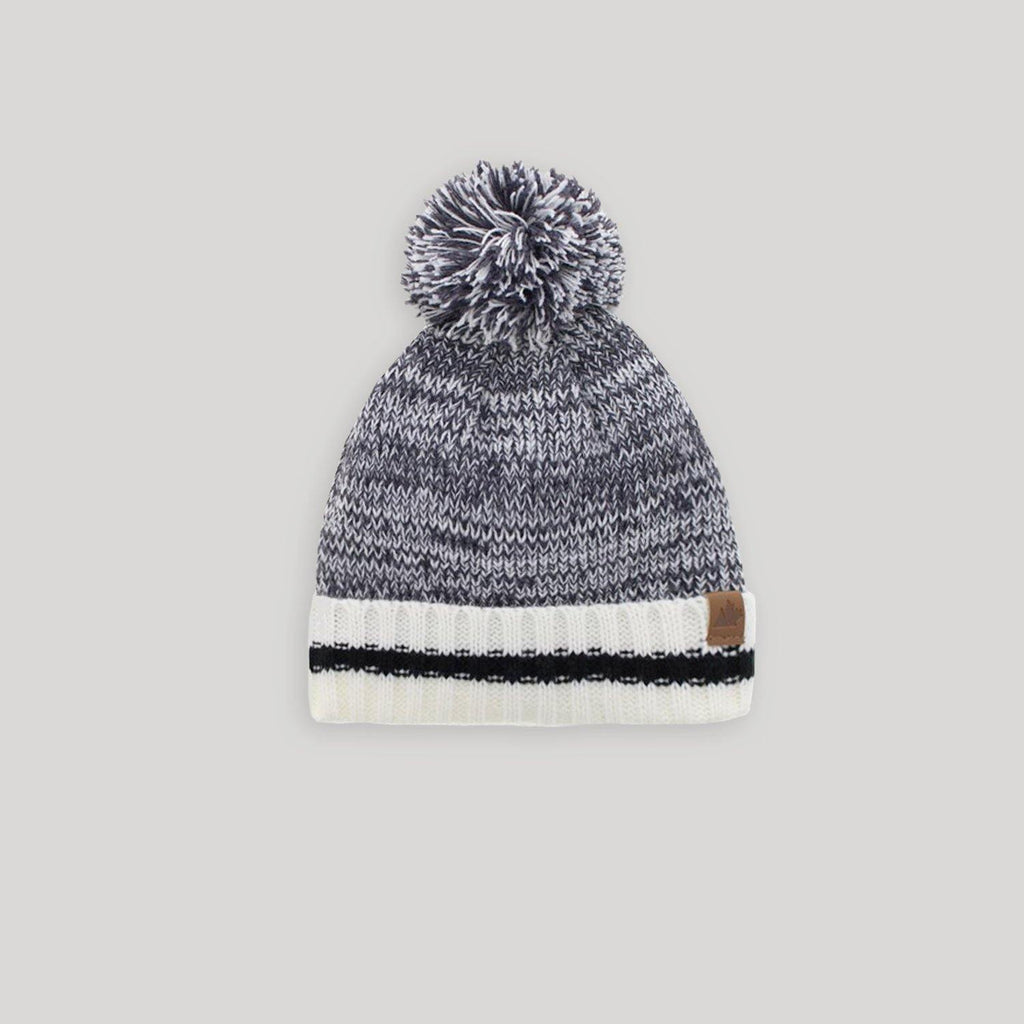 Toddler Rib Knit Pom Pom Hat - Snugabye Canada