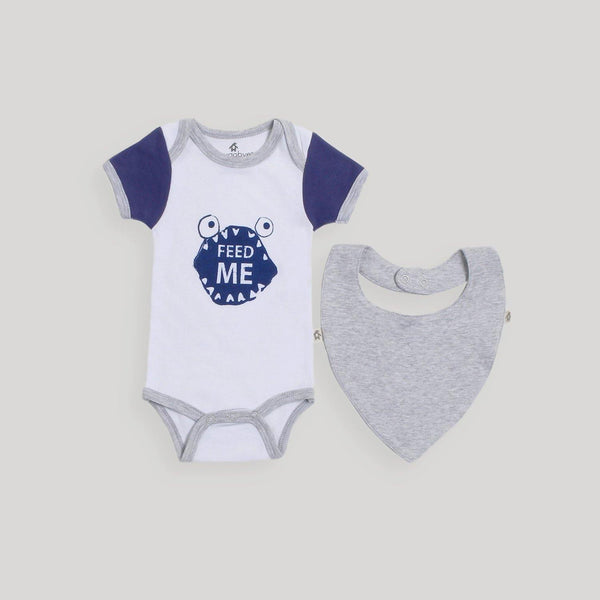 Blue Bodysuit & Bib Set - Snugabye Canada