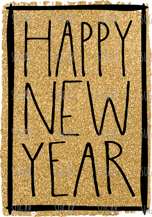 Happy New Year - sublimation transfer