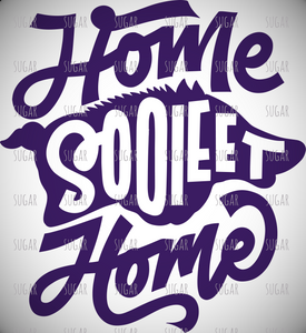 Home Sooieet Home- sublimation transfer - razorback - Arkansas