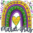 Mardi Gras Rainbow - sublimation transfer