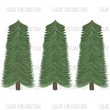 Christmas Trees - 4 designs - sublimation transfer