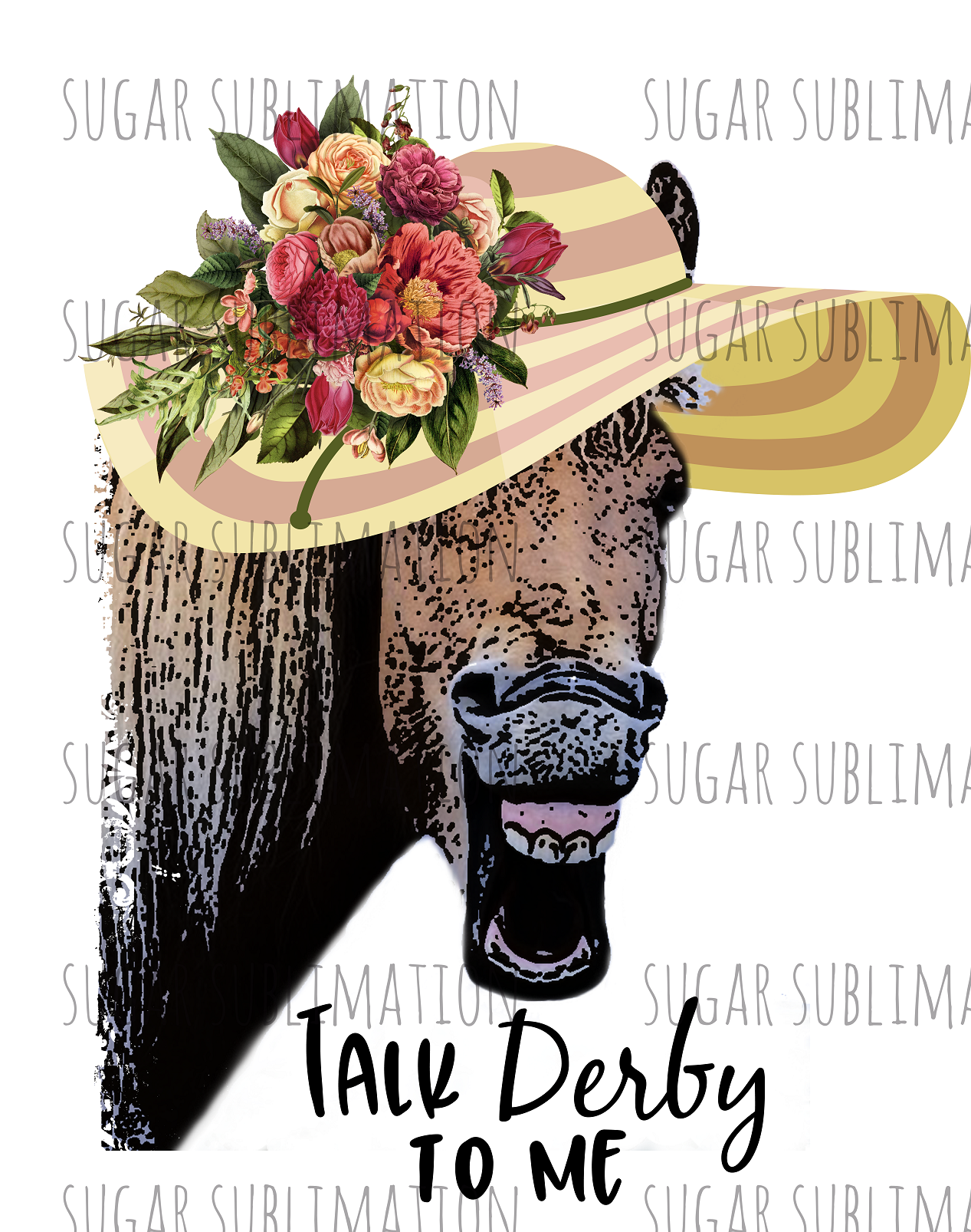 Talk Derby to Me - horse - sublimation transfer