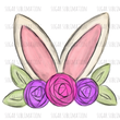 Bunny Ears Flowers - Easter - sublimation transfer
