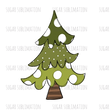 Christmas Tree - doodle - polka dot | stripe - sublimation transfer