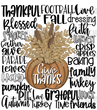 Give Thanks word art - sublimation transfer