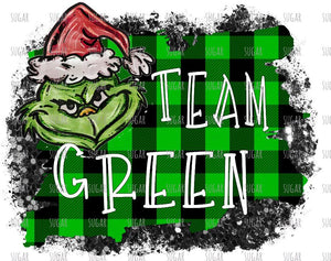 Grinch Team Green - sublimation transfer