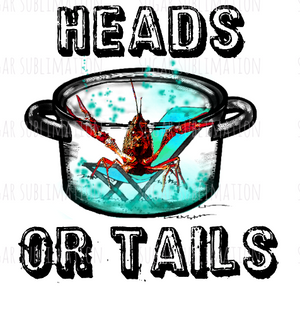 Crawfish Boil- heads or tails- sublimation transfer