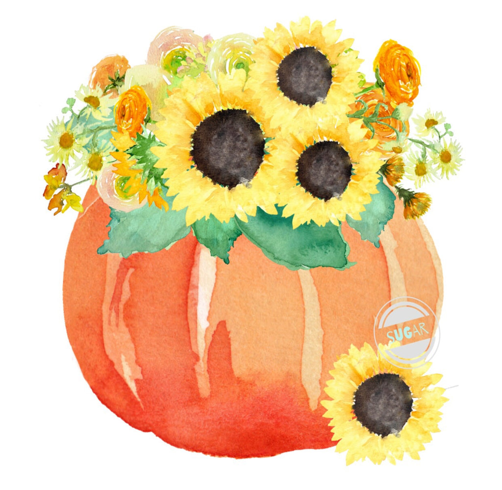 Pumpkin Sunflower - sublimation Transfer