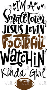 Football Watchin' Girl- Sublimation Transfer