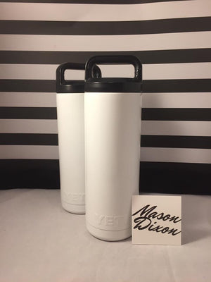 Custom Powder Coated 18oz Yeti bottle