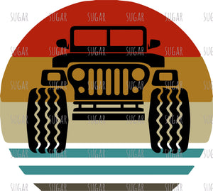 Jeep - retro - sublimation Transfer