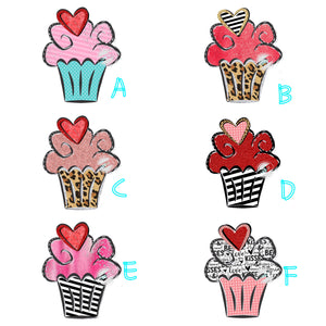 Cupcakes - leopard - stripe - sublimation transfer