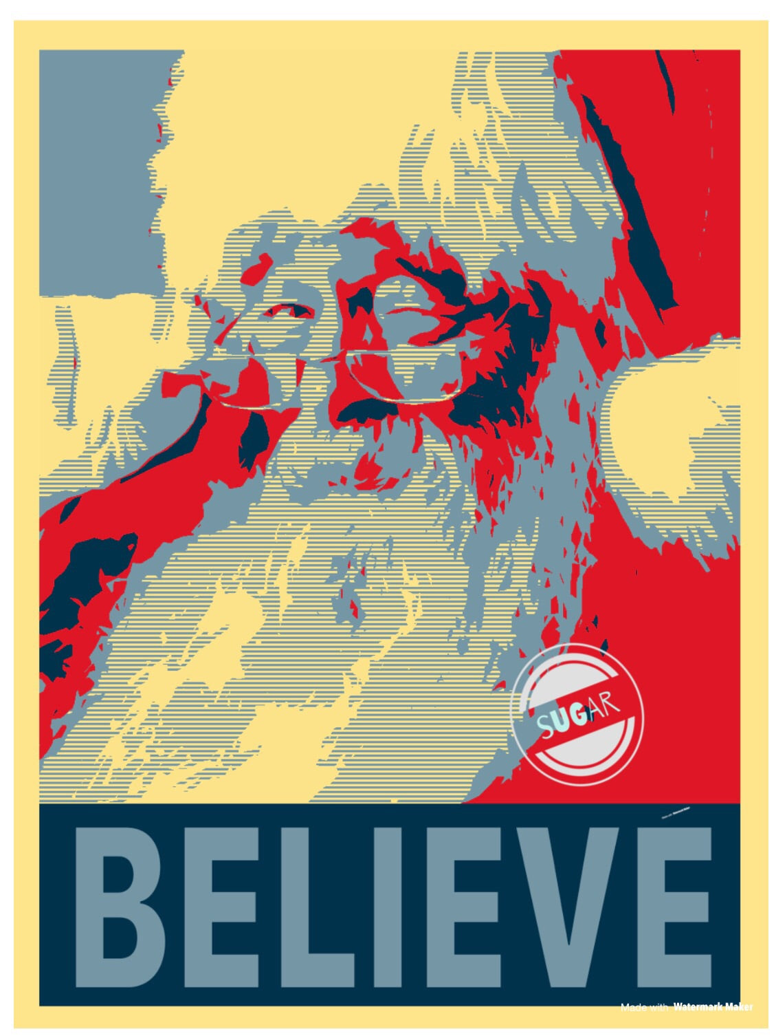 Believe - retro Santa - Sublimation Transfer