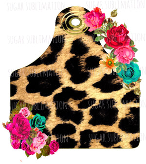 Leopard Cow Tag - sublimation transfer