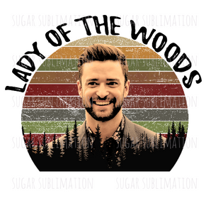 Forest Retro Justin Timberlake- sublimation transfer