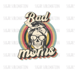 SUBLIMATION TRANSFER | Retro Bad Mom Skull