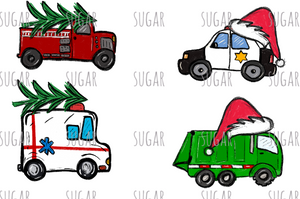 Service Holiday truck - sublimation transfer