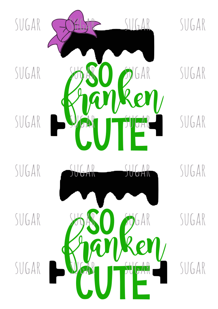 Franken Cute- Sublimation Transfer- Halloween