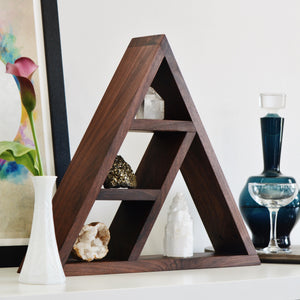 Walnut Display Shelf